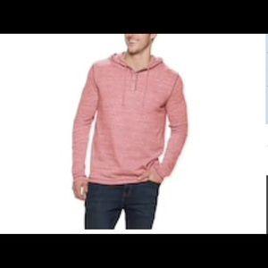 Men's XXl Pullover Henley shirt with hood